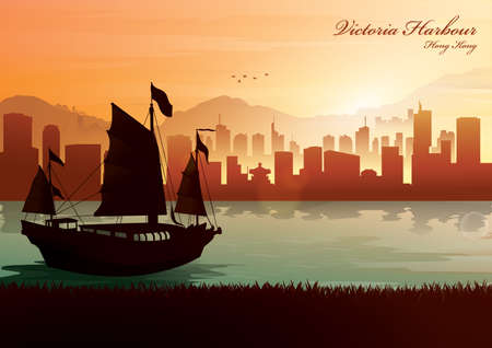 victoria harbour Stock Vector - 49837081