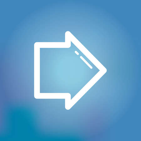right arrow: right arrow icon Illustration