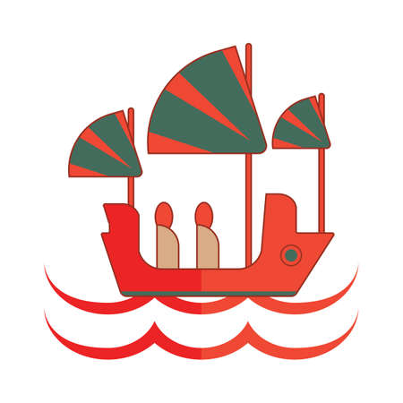junk boat: traditional junk ship