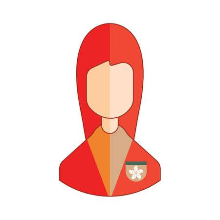 hongkong: woman Illustration