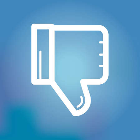 disapprove: thumbs down icon Illustration