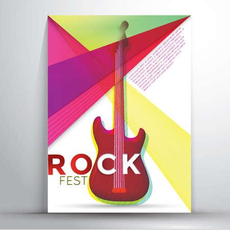 fest: rock fest poster Illustration