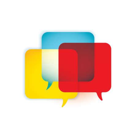 chat: chat bubbles Illustration
