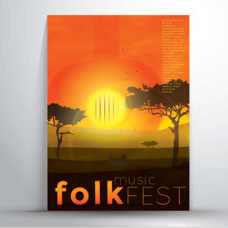 folk music: folk music fest poster