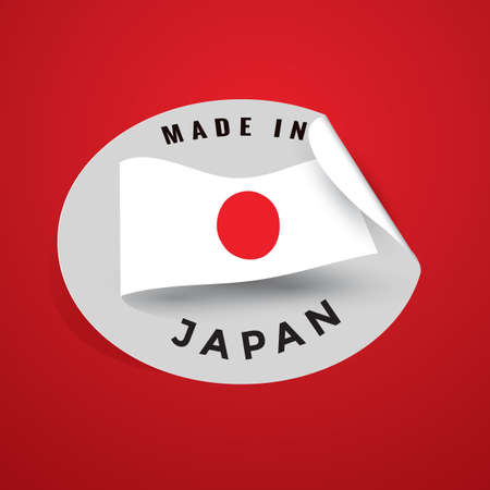 authenticity: made in japan sticker Illustration