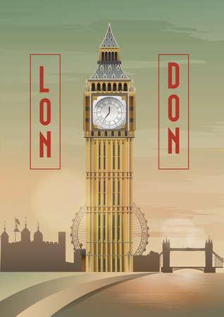 famous place: big ben poster