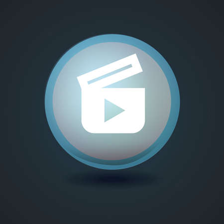 video player: video player icon Illustration