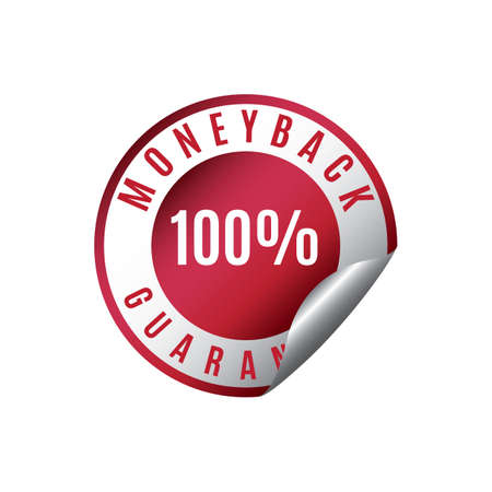 money back: money back guarantee sticker