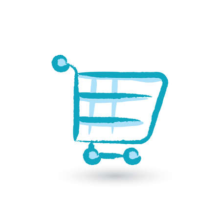 smartphone in hand: shopping cart icon