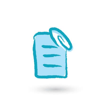 adjuntar: adjuntar icono del archivo Vectores