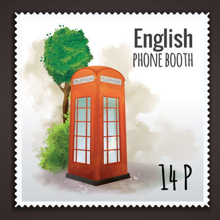 phone booth: english phone booth
