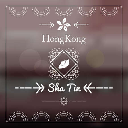 sha: map of sha tin
