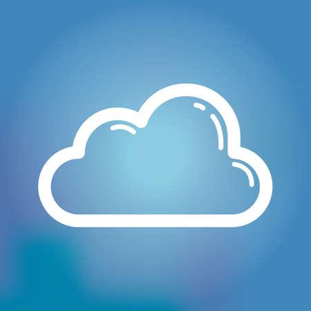 cloud storage: cloud storage icon Illustration