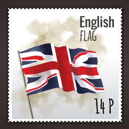 drapeau anglais: english flag Illustration