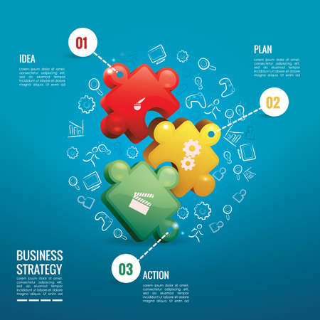 jig saw puzzle: business strategy infographic