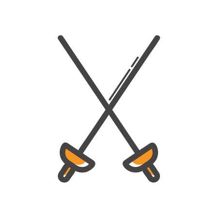 esgrima: espadas de esgrima