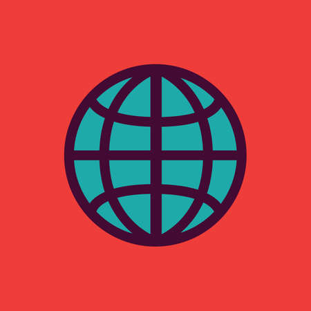 media network: globe icon Illustration