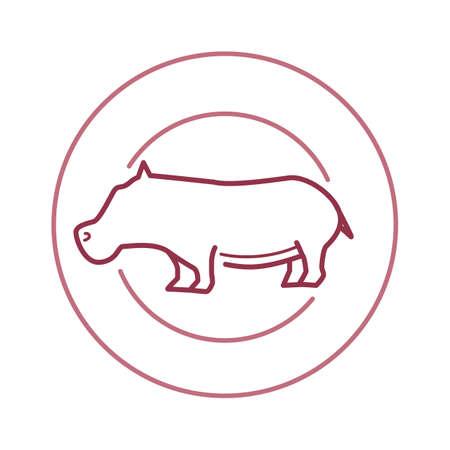 hippopotamus: hippopotamus Illustration