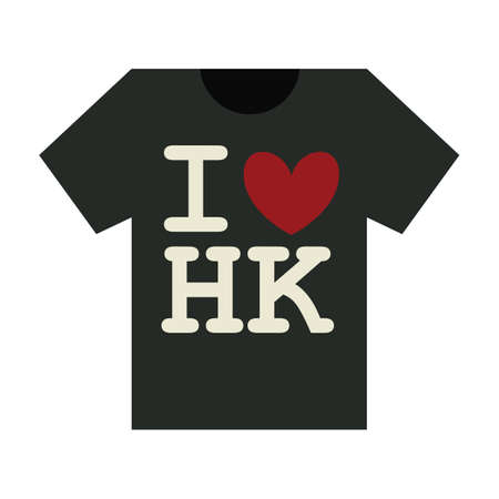 hk: t-shirt with i love hk