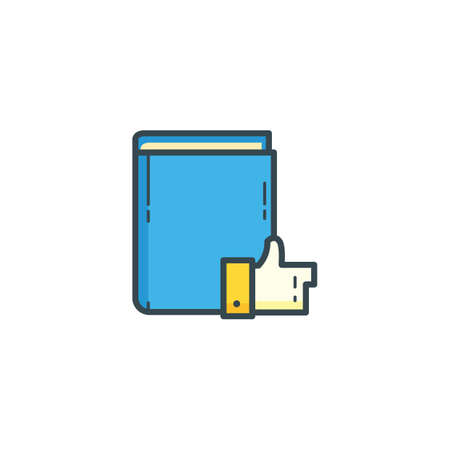 publishes: book with thumbs up icon