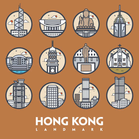 hong kong landmark set