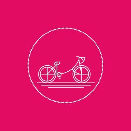 pedaling: bicycle Illustration