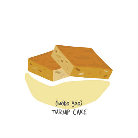 turnip: turnip cake Illustration