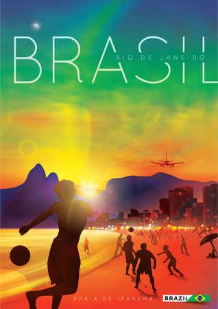 praia: brazil poster