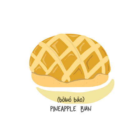 pineapple bun Illustration