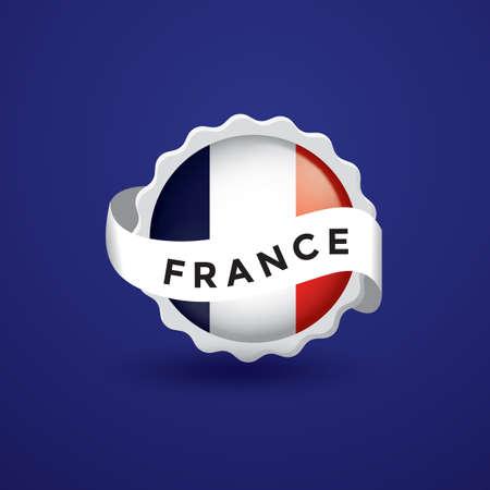 france flag: france flag sticker Illustration