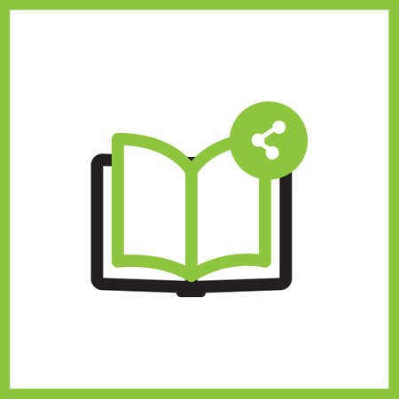 share icon: book with share icon