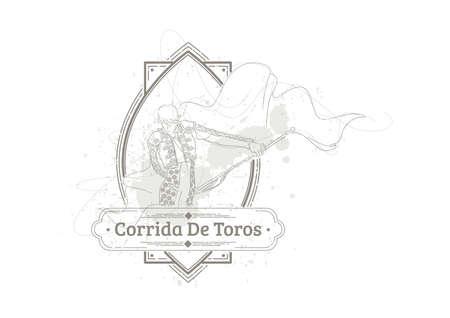 コリーダ ・ デ ・ トロス  イラスト・ベクター素材