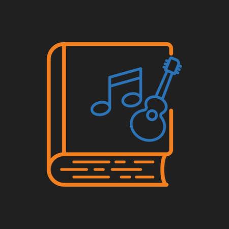 e guitar: musical book icon