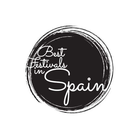 festive occasions: best festivals in spain stamp Illustration