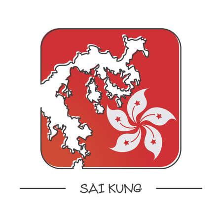 kung: map of sai kung Illustration