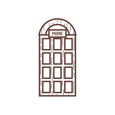 telephone booth: phone booth Illustration