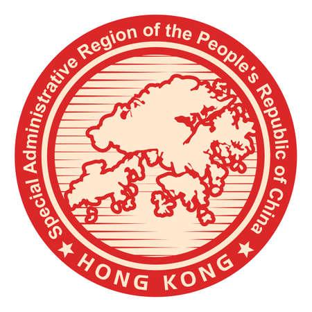 peoples republic of china: hong kong map icon