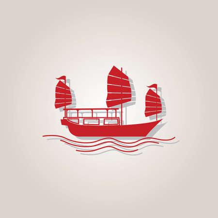 junk boat: hong kong junk boat