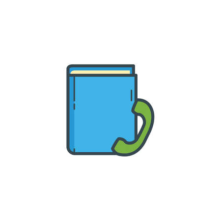 directory: telephone directory icon Illustration