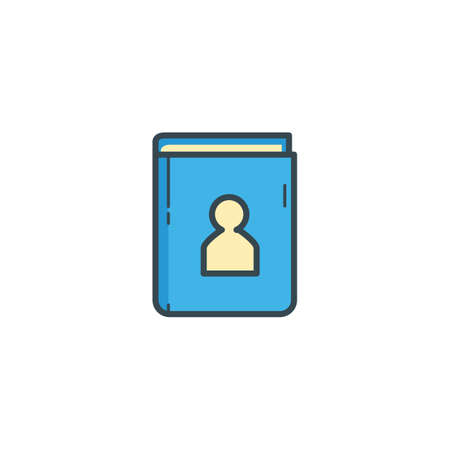 contacting: contact book icon Illustration