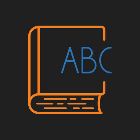 e book: book with alphabet icon