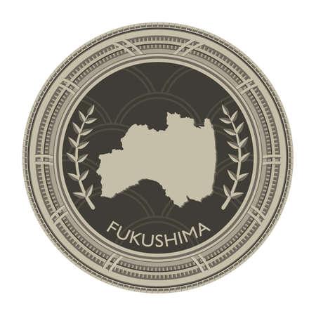 fukushima: fukushima map Illustration