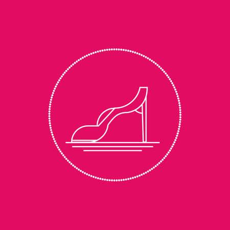 high heeled: shoe