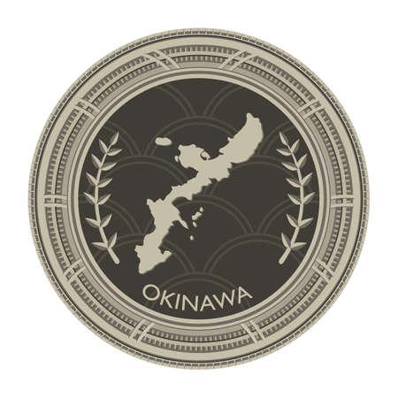 okinawa: okinawa map Illustration