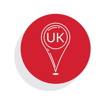 kingdom: united kingdom map pointer