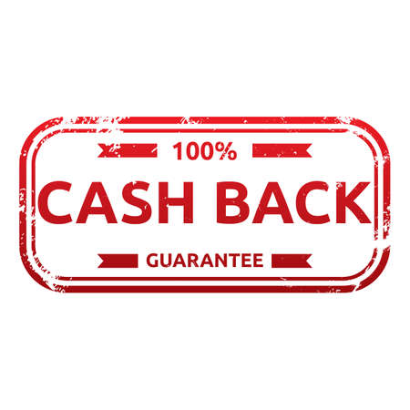 money back: money back guarantee label Illustration