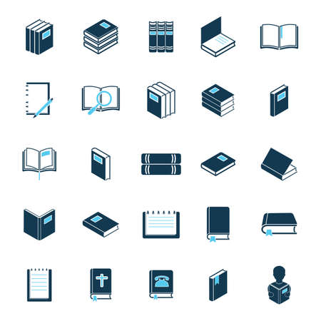 copybook: collection of book icons