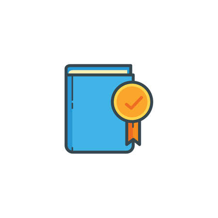 publishes: book with check mark icon
