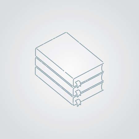stack of books Ilustracja