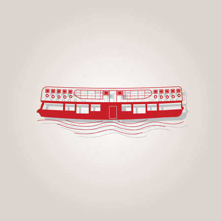 junk boat: hong kong cruise Illustration